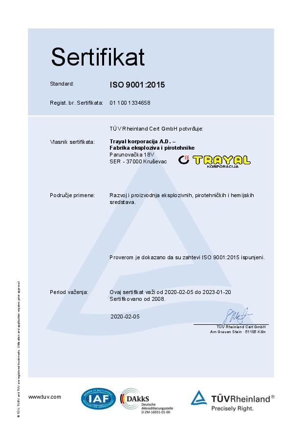 FEP Certifikat ISO 9001