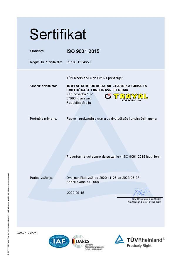 FGDUG Certifikat ISO 9001