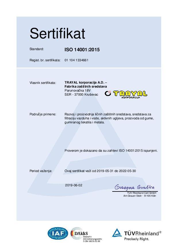 FZS Certifikat ISO 14001
