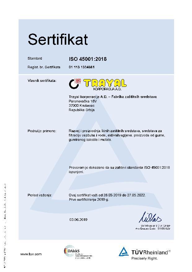 FZS Certifikat ISO 45001