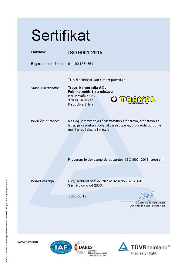 FZS Certifikat ISO 9001