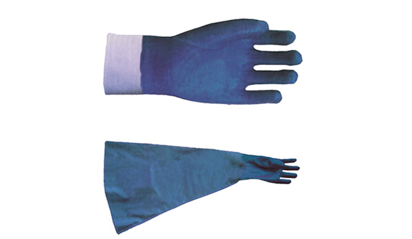 Acid-resistant protective gloves